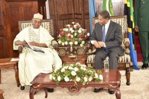 The Nigeria High Commissioner with Nigerian Investors during a Courtesy Call to the President of Zanzibar